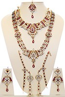 Maha Rani Kundan Bridal Set BERK10725 Indian Jewellery