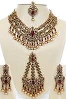 Golden Crystal, Antique Asian Bridal Jewellery - Eesha BANC10737C Indian Jewellery