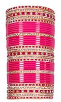 RIMI Rani Pink Wedding Chura, 2-Hands, 2.8 UGPC03483 Indian Jewellery