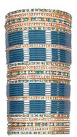 RIMI Blue Wedding Chura, 2-Hands, 2.4 UGLC03492 Indian Jewellery
