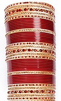 RIMI Maroon LCT Wedding Chura, 2.8 UGRC04250 Indian Jewellery