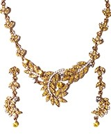 Crystal Necklace Set NAYC03841 Indian Jewellery
