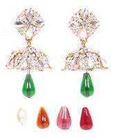 5-Colour Jhumki Earrings EAMC03346 Indian Jewellery
