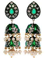 Chloe 2-Layer Jhumka EAGL10366 Indian Jewellery