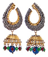 Medium/Large Indian Jhumka EGMA10377 Indian Jewellery