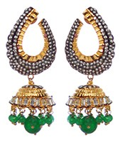Medium/Large Indian Jhumka EGGA10378 Indian Jewellery