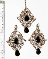 TRISHA Large Earrings and Tikka ISBK0555 Indian Jewellery