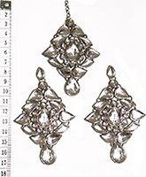 TRISHA Large Earrings and Tikka ISWK0556 Indian Jewellery