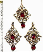 TRISHA Large Earrings and Tikka IGRK0548 Indian Jewellery