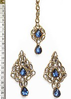 KUSHI Earrings and Tikka IALK0564 Indian Jewellery