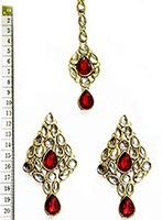 KUSHI Earrings and Tikka IARK0563 Indian Jewellery