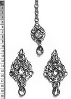 KUSHI Earrings and Tikka ISWK0565 Indian Jewellery