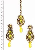 RAJNI Earrings Tikka IAYC02901 Indian Jewellery