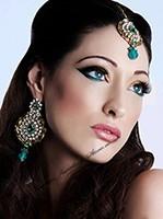 Ayeesha Earrings and Tikka Set IALC03302 Indian Jewellery