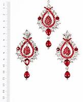 KIA Earrings and Tikka ISRC04090 Indian Jewellery