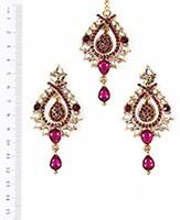 KIA Earrings and Tikka IAUC04096 Indian Jewellery