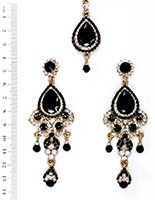Anita Earrings and Tikka IABC04081 Indian Jewellery