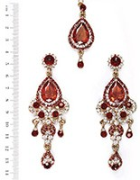 Anita Earrings and Tikka IAWC04082 Indian Jewellery