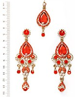 Anita Earrings and Tikka IAOC04084 Indian Jewellery