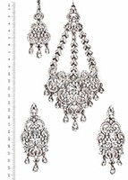 Milika Ear-Tikka-Passa Set ISWC04118 Indian Jewellery