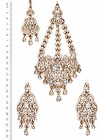 Milika Ear-Tikka-Passa Set IAWC04120 Indian Jewellery