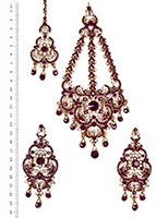 Milika Ear-Tikka-Passa Set IAUC04172 Indian Jewellery
