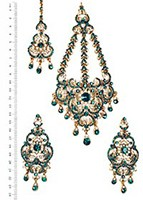 Milika Ear-Tikka-Passa Set IAGC04173 Indian Jewellery