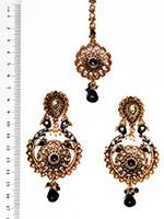 Peacock Indian Earrings and Tikka IABA04388 Indian Jewellery