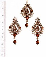 KIA Earrings and Tikka IANK04373 Indian Jewellery