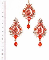 KIA Earrings and Tikka IAOK04374 Indian Jewellery