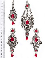 Rhumi Ear-Tikka-Passa Kundan ISPK04755 Indian Jewellery