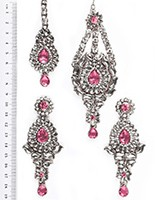 Rhumi Ear-Tikka-Passa Kundan ISPK04756 Indian Jewellery