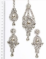 Rhumi Ear-Tikka-Passa Kundan ISWK04761 Indian Jewellery