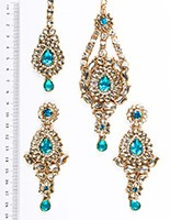 Rhumi Ear-Tikka-Passa Kundan IALK04765 Indian Jewellery