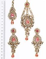 Rhumi Ear-Tikka-Passa Kundan IAPK04767 Indian Jewellery