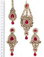 Rhumi Ear-Tikka-Passa Kundan IAPK04768 Indian Jewellery