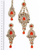 Rhumi Ear-Tikka-Passa Kundan IAOK04769 Indian Jewellery
