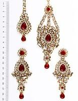 Rhumi Ear-Tikka-Passa Kundan IARK04773 Indian Jewellery