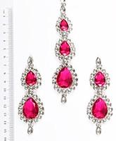 Sweety Kundan Earrings and Wide Tikka Set ISPK04849 Indian Jewellery