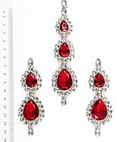 Sweety Kundan Earrings and Wide Tikka Set ISRK04852 Indian Jewellery