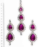 Sweety Kundan Earrings and Wide Tikka Set ISUK04853 Indian Jewellery