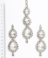 Sweety Kundan Earrings and Wide Tikka Set ISWK04854 Indian Jewellery