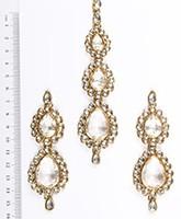 Sweety Kundan Earrings and Wide Tikka Set IAWK04855 Indian Jewellery