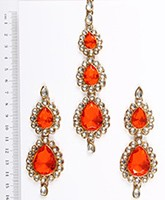 Sweety Kundan Earrings and Wide Tikka Set IAOK04856 Indian Jewellery