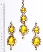 Sweety Kundan Earrings and Wide Tikka Set IAYK04857 Indian Jewellery