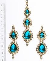 Sweety Kundan Earrings and Wide Tikka Set IALK04859 Indian Jewellery