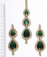 Sweety Kundan Earrings and Wide Tikka Set IAGK04861 Indian Jewellery