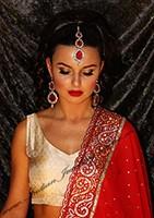 Sweety Kundan Earrings and Wide Tikka Set IARK04865 Indian Jewellery