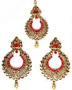 Arora Earrings & Tikka IAC010275C Indian Jewellery