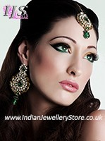 Earrings & Tikka Set - Ayeesha IAWC10603C Indian Jewellery